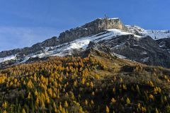 Diablerets massif in autumn colours Royalty Free Stock Image