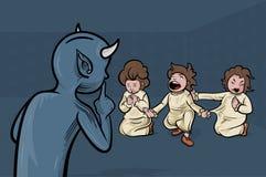 Diables chut Photo libre de droits
