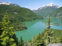 Diablo湖 库存照片