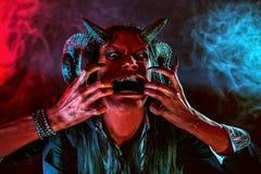Diablo agresivo Imagen de archivo libre de regalías