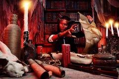 Diablo amedrontando Imagens de Stock Royalty Free