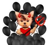 Diablo animal divertido Halloween y concepto malvado Fotografía de archivo libre de regalías