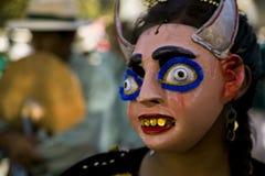 Diablo bolivia maski Fotografia Royalty Free