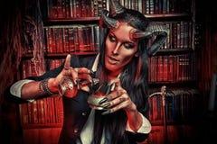 Diablo bonito Fotografía de archivo libre de regalías