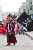 Diablo con la bandera Fotografía de archivo