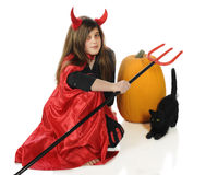 Diablo de Víspera de Todos los Santos Imagen de archivo libre de regalías