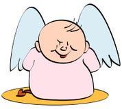 Diablo del ángel ilustración del vector