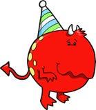 Diablo del monstruo del cumpleaños Imágenes de archivo libres de regalías