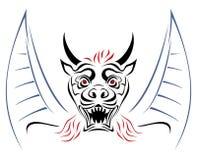 Diablo en bosquejo Imágenes de archivo libres de regalías