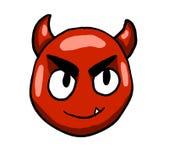 Diablo enojado Smiley Face ilustración del vector
