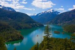 Diablo jezioro. Obrazy Royalty Free