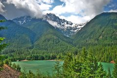 Diablo Lake. In Washington State.  This is in the Cascade Mountains, north of Mt. Rainier Stock Images