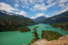 Diablo lake Stock Photos