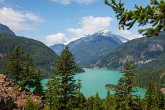 Diablo lake Royalty Free Stock Image