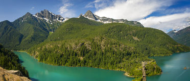 diablo lake Royaltyfri Fotografi