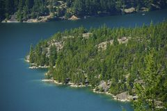 Diablo Lake Aerial Photo Royalty Free Stock Photography