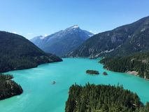 Diablo Lake, cascades du nord, Washington State, Etats-Unis photographie stock libre de droits