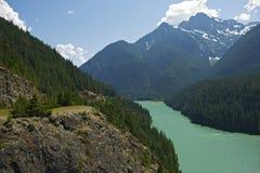 Diablo Lake Cascades Mountains Stock Photos