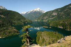 Diablo lake and Davis Peak Stock Photos