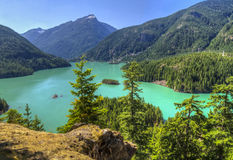 Diablo Lake Reservoir Stock Photography
