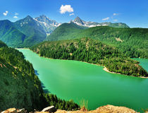 The Diablo Lake view Royalty Free Stock Images