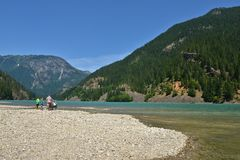 Diablo Lake, Washington State dalla Banca Fotografie Stock