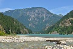 Diablo Lake, Washington State dalla Banca Fotografie Stock Libere da Diritti
