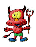 Diablo rojo con el tridente Foto de archivo