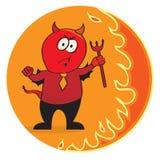 Diablo rojo en una corbata Fotos de archivo