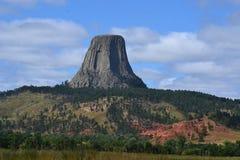 Diablo-torre-Nacional-monumento Imagen de archivo