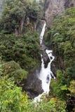 Diablo vattenfall, Ecuador arkivfoto