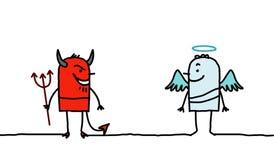 Diablo y ángel Imágenes de archivo libres de regalías