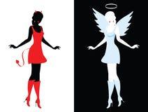 Diablo y ángel Fotos de archivo
