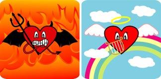 Diablo y ángel imagen de archivo libre de regalías