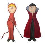 Diablo y vampiro Ilustración del Vector