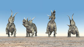 Dinosaur Diabloceratops Stock Photo