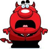 Diabo assustado dos desenhos animados Imagens de Stock