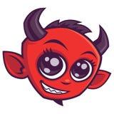 Diabo bonito dos desenhos animados foto de stock