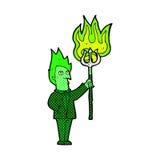 diabo cômico dos desenhos animados com forcado Imagem de Stock Royalty Free