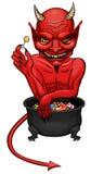 Diabo de Dia das Bruxas Imagens de Stock