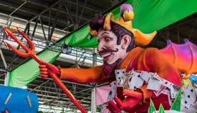 Diabo de Nova Orleães Mardi Gras World Float Poker Foto de Stock