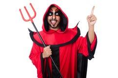 Diabo do homem foto de stock