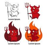 Diabo do logotipo Imagens de Stock Royalty Free