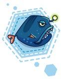 diabo do mar dos desenhos animados Imagem de Stock