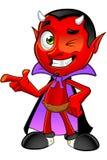 Diabo dos desenhos animados - apontando Imagens de Stock