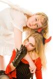 Diabo e anjo imagens de stock