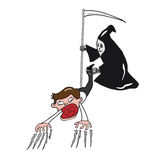 Diabo e homem de negócios 2 ilustração royalty free