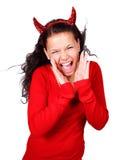 Diabo gritando Fotografia de Stock