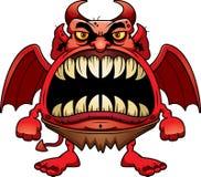 Diabo irritado dos desenhos animados Fotografia de Stock