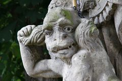 Diabo limitado - detalhe da cabeça Imagens de Stock Royalty Free